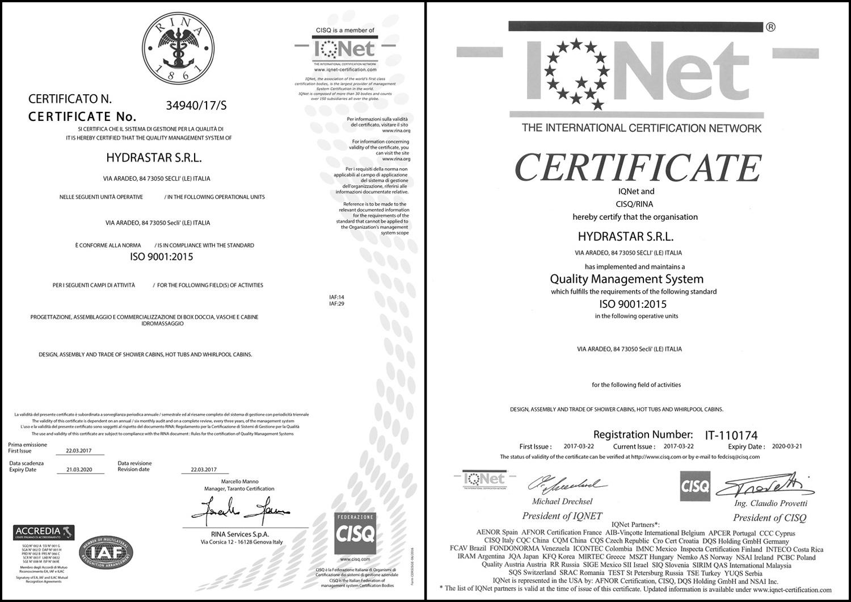 Certificazioni e Qualità